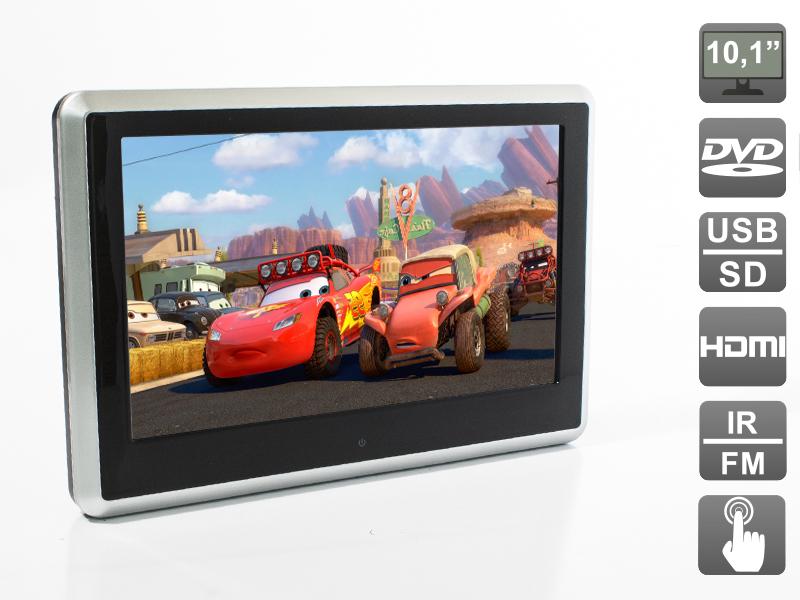 Навесной монитор на подголовник с сенсорным экраном 10.1, встроенным DVD плеером и медиаплеером AVIS Electronics AVS1038T (+ беспроводные наушники в подарок!) от комаров защита