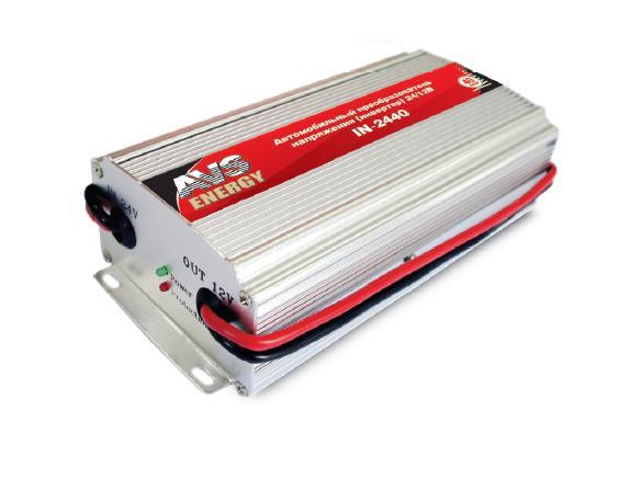 Автомобильный инвертор AVS IN-2440 (24>12В, 40А, 480Вт) автоинвертор avs in 2440 40a с 24в на 12в 43899