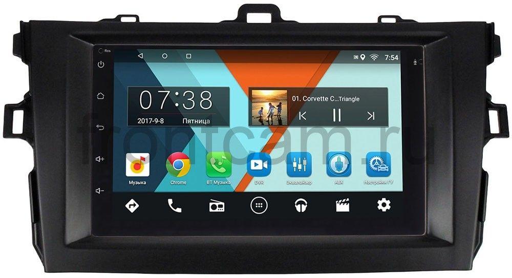 Штатная магнитола Toyota Corolla X 2006-2013 (черная) Wide Media MT7001-RP-TYCV14XB-47 на Android 7.1.1 (+ Камера заднего вида в подарок!)