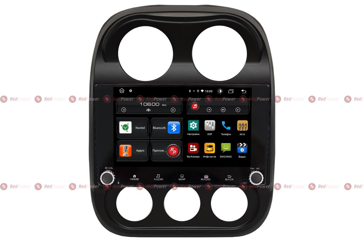 Автомагнитола для Jeep Compass RedPower 61316 KNOB (+ Камера заднего вида в подарок!)
