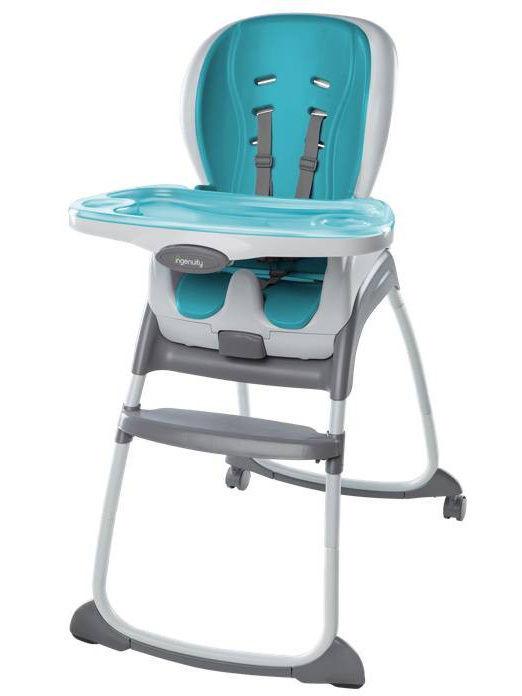 Картинка для Стульчик для кормления Bright Starts Smart Clean Blue (+ Защитный чехол СМЕШАРИКИ в подарок!)
