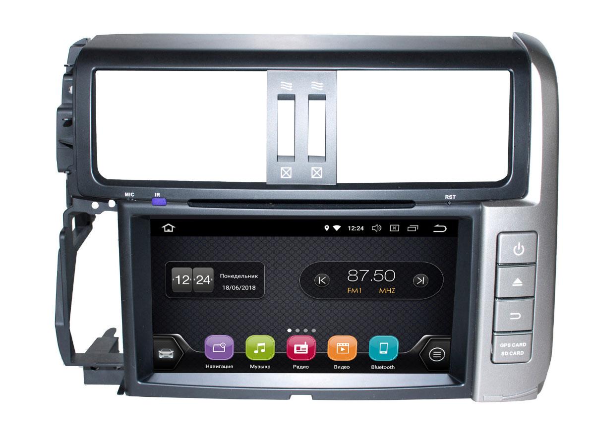 Штатная магнитола InCar TSA-2248 для Toyota Prado 150 (2006-2010) Android 8.0 (+ Камера заднего вида в подарок!)