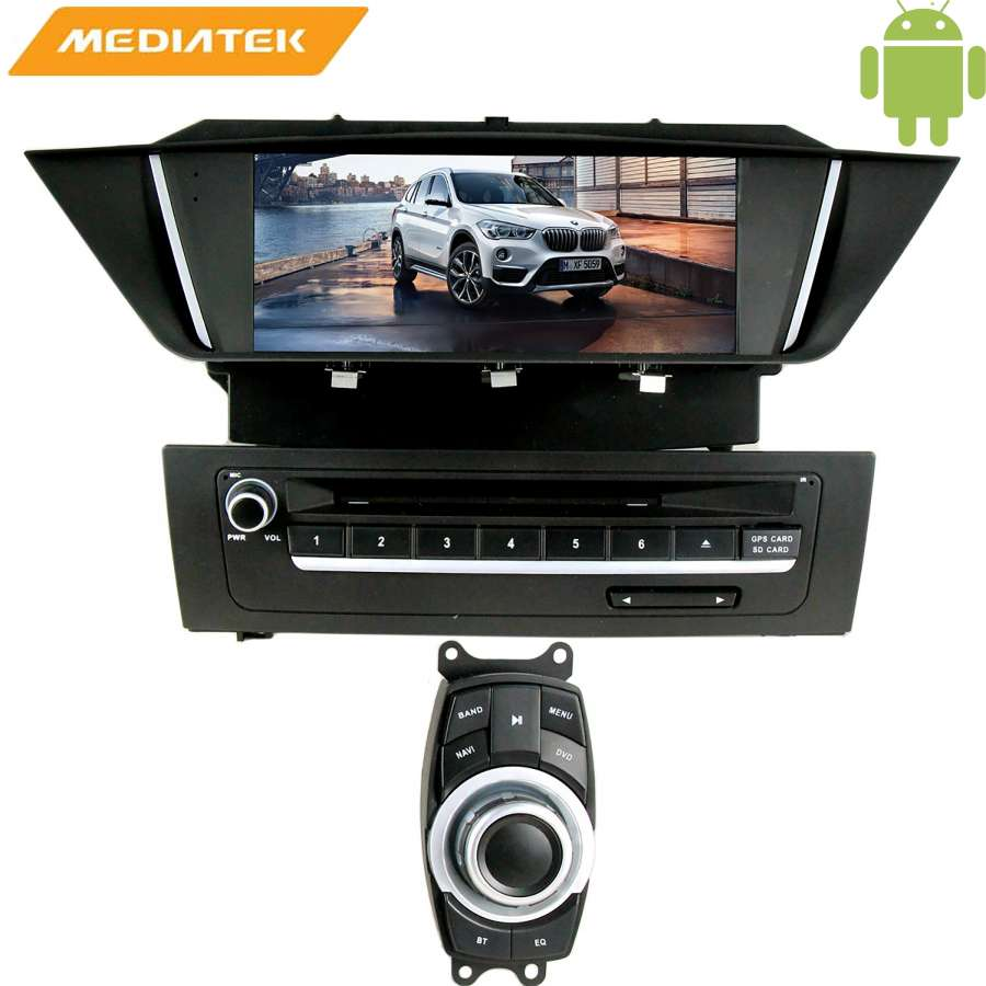 Штатная магнитола LeTrun 1758 для BMW X1(кузов E84) Android 4.4.4 7060b 7 inch 12v auto 2 din bluetooth tft screen car audio stereo mp3 mp4 mp5 player support aux fm usb sd mmc