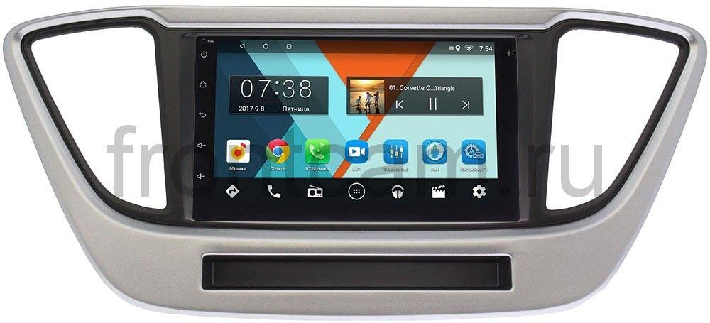 Штатная магнитола Hyundai Solaris II 2017-2018 Wide Media MT7001-RP-HDLSLc-33 на Android 7.1.1 (+ Камера заднего вида в подарок!)