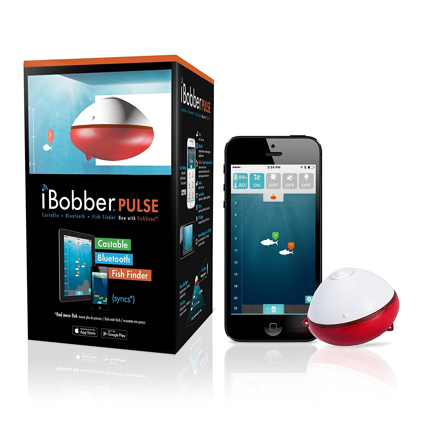Беспроводной эхолот iBobber Pulse Bluetooth Smart bluetooth fingertip pulse oximeter orange white 2 x aaa