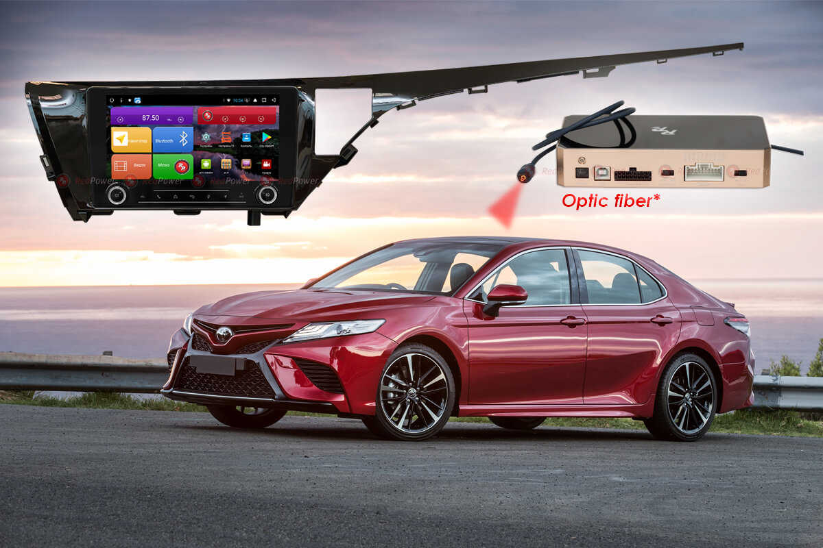 Магнитола для Toyota Camry XV70 RedPower K 51331 R IPS DSP ANDROID 8+ (+ Камера заднего вида в подарок!)
