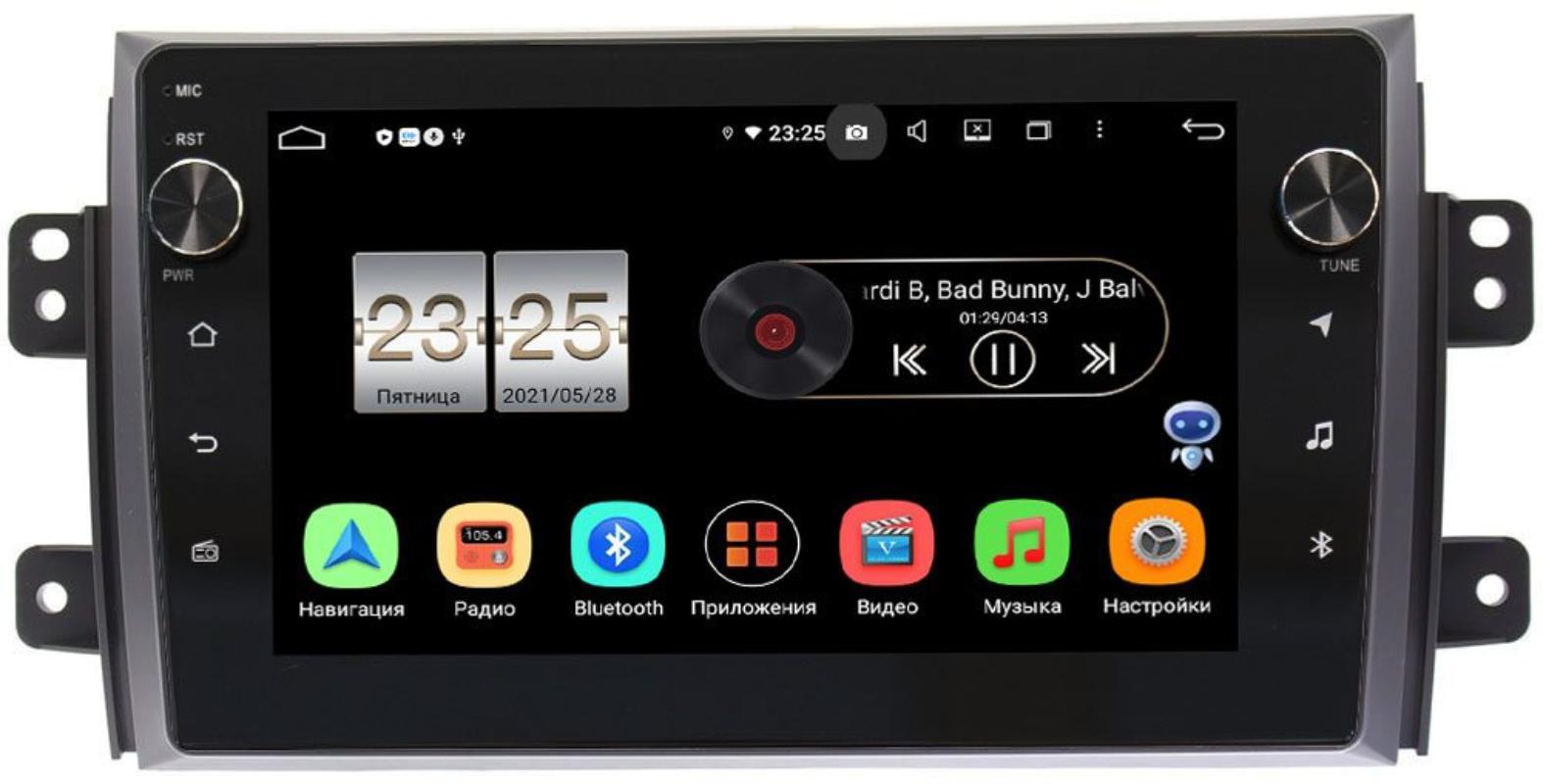 Штатная магнитола Suzuki SX4 I 2006-2014 LeTrun BPX409-9035 на Android 10 (4/32, DSP, IPS, с голосовым ассистентом, с крутилками) (+ Камера заднего вида в подарок!)