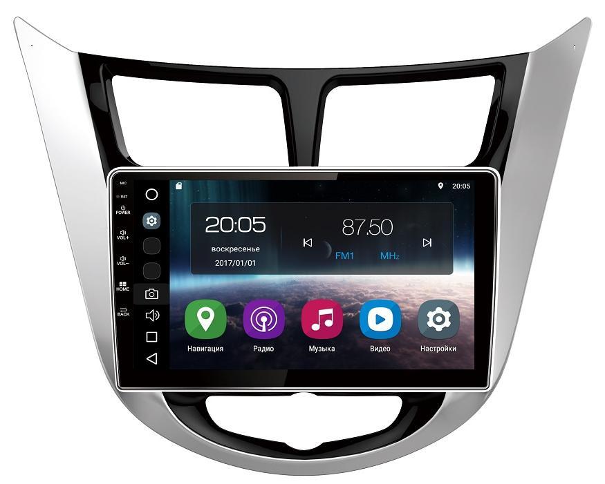 Штатная магнитола FarCar s200 для Hyundai Solaris на Android (V067R) farcar s130 hyundai solaris 2010 android r067