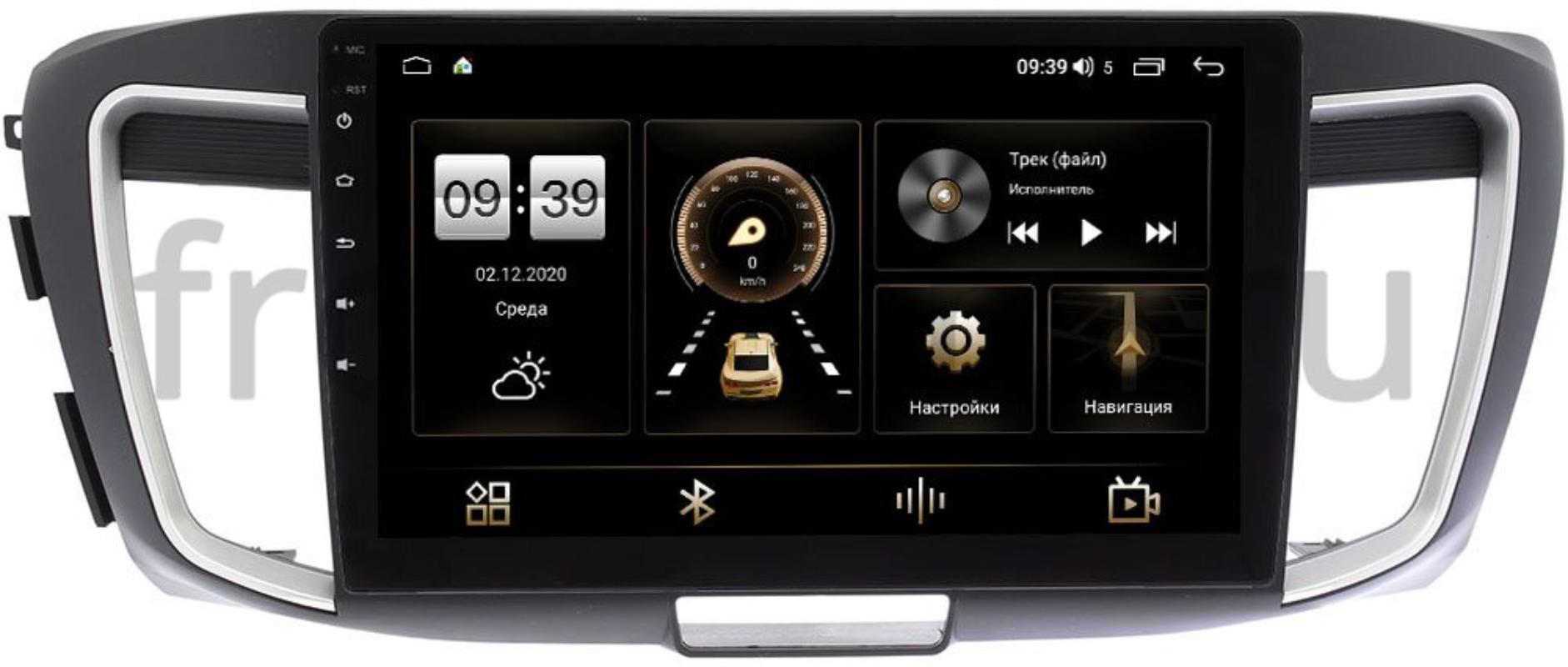 Штатная магнитола Honda Accord 9 (IX) 2013-2015 LeTrun 4165-10-1156 на Android 10 (4G-SIM, 3/32, DSP, QLed) (+ Камера заднего вида в подарок!)