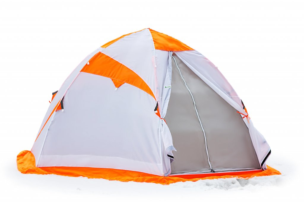 Зимняя палатка Лотос 4 (оранжевый) палатка лотос 3 универсал