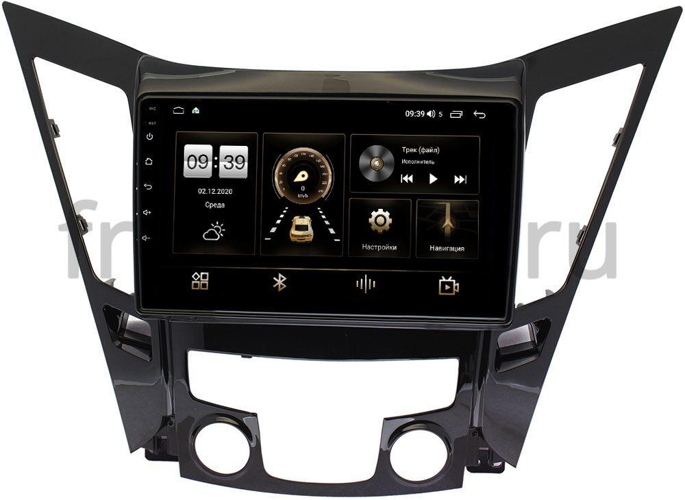 Штатная магнитола Hyundai Sonata VI (YF) 2009-2014 LeTrun 3792-9114 на Android 10 (4/64, DSP, QLed) С оптическим выходом (+ Камера заднего вида в подарок!)