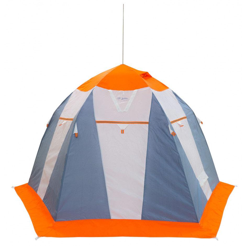 Палатка рыбака Митек Нельма 3 (оранжево-белый/сероголубой)