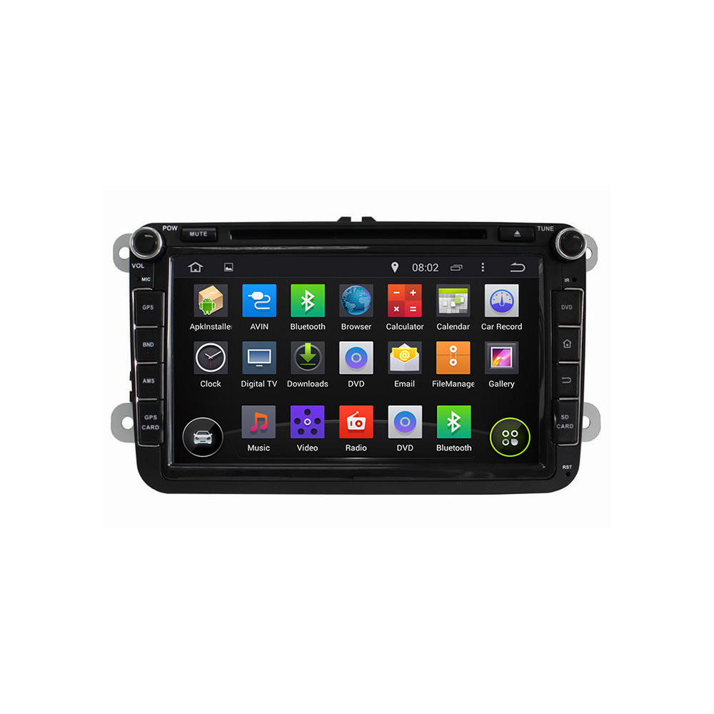Штатная магнитола CARMEDIA KD-8019-P3-7 DVD Volkswagen, Skoda, Seat (по списку) junsun 7 inch hd car gps navigation with fm bluetooth avin multi languages europe sat nav truck car gps navigator with free maps