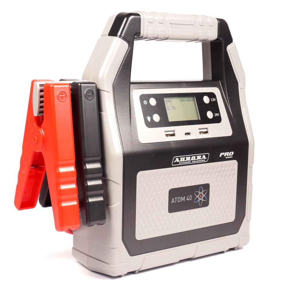 Профессиональное пусковое устройство AURORA ATOM 40 40000 мА/ч (12/24В) (+ Power Bank в подарок!) устройство aurora atom 40