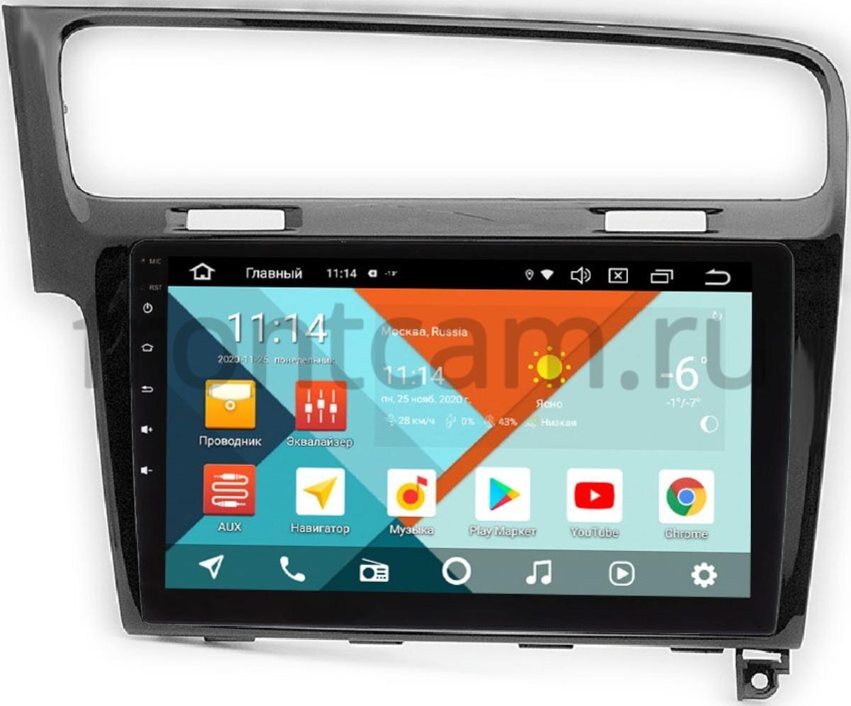 Штатная магнитола Volkswagen Golf 7 2012-2020 Wide Media KS10-469QR-3/32 DSP CarPlay 4G-SIM на Android 10 (API 29) (+ Камера заднего вида в подарок!)
