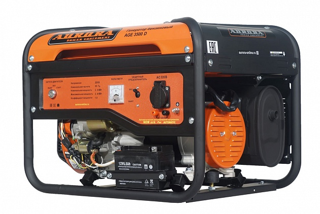Бензиновый генератор Aurora AGE 3500 D генератор бензиновый kipor kge 12 e