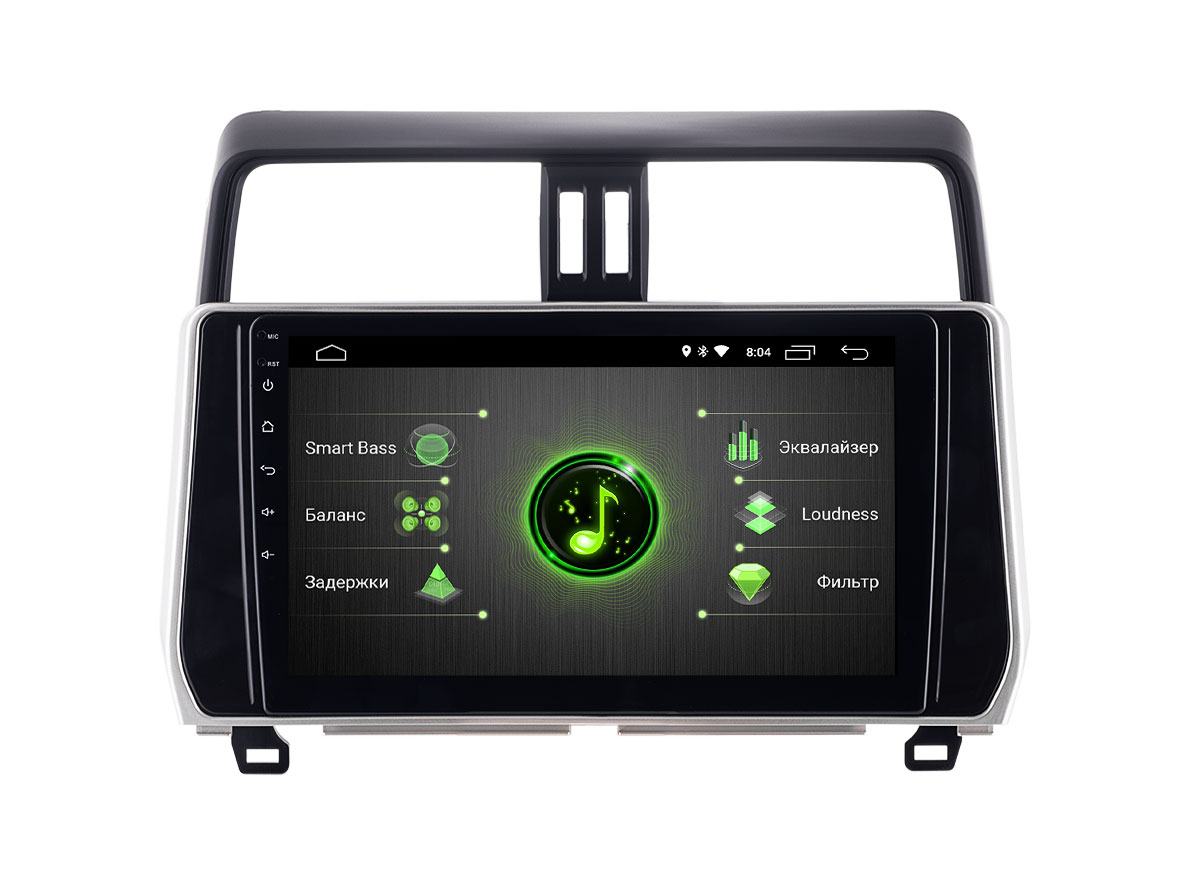 Штатная магнитола INCAR DTA-2210 для Toyota Prado 150 (2017-2018) Android 10 с процессором DSP (+ Камера заднего вида в подарок!)