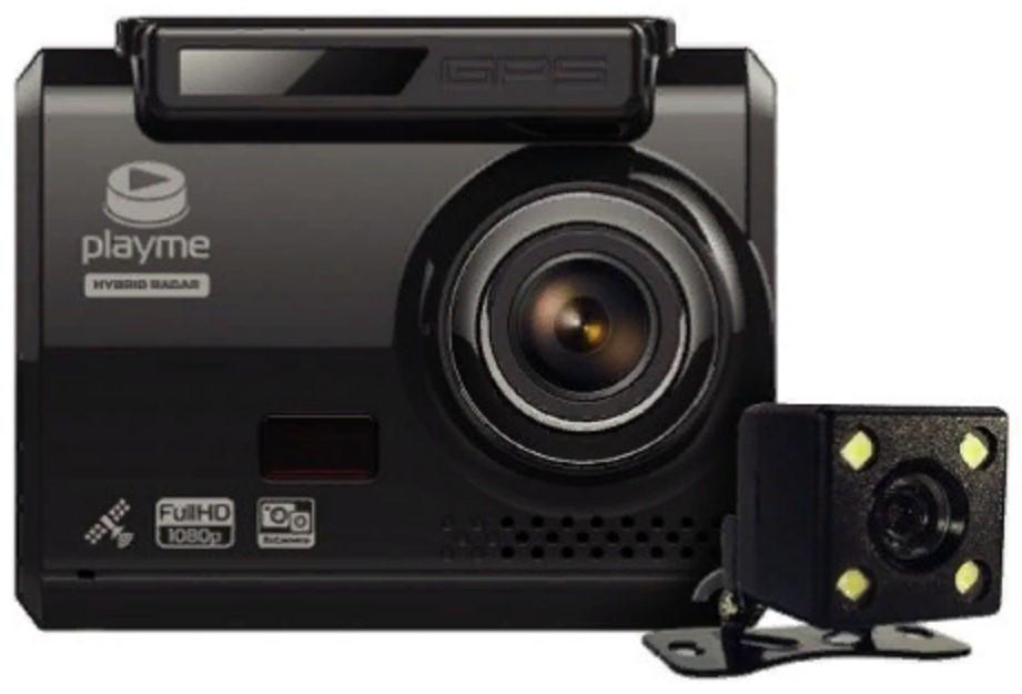 Видеорегистратор с радар-детектором Playme OMEGA (+ Антисептик-спрей для рук в подарок!)