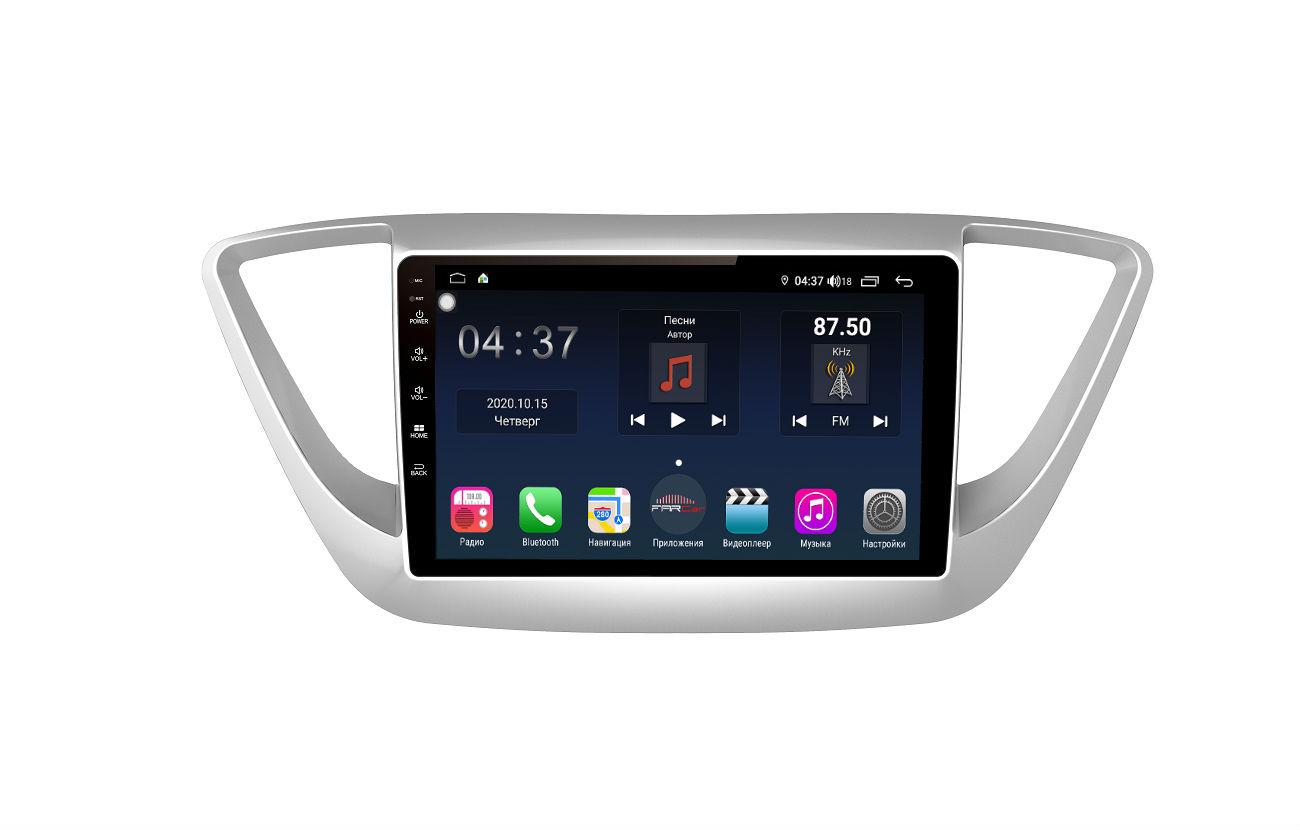 Штатная магнитола FarCar s400 для Hyundai Solaris на Android (TG766R) (+ Камера заднего вида в подарок!)