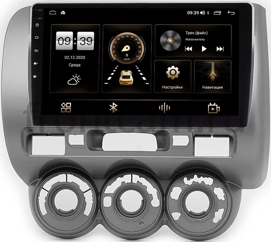 Штатная магнитола LeTrun 4196-9-464 для Honda Jazz I 2001-2008 (левый руль) на Android 10 (6/128, DSP, QLed) С оптическим выходом (+ Камера заднего вида в подарок!)