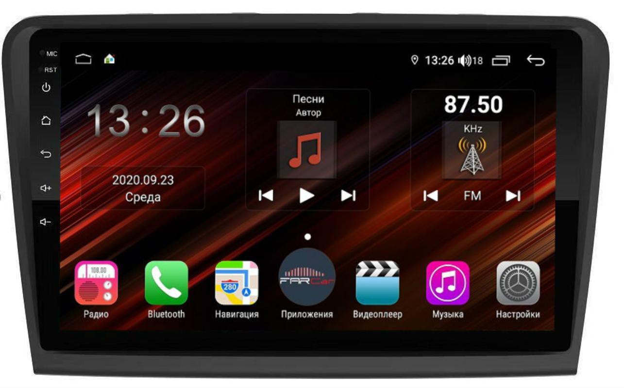 Штатная магнитола FarCar s400 Super HD для Skoda SuperB на Android (XH306R) (+ Камера заднего вида в подарок!)