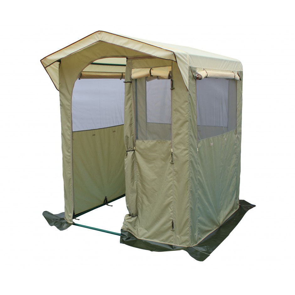 Палатка-Кухня Митек Комфорт 1,5х1,5 хаки-бежевый