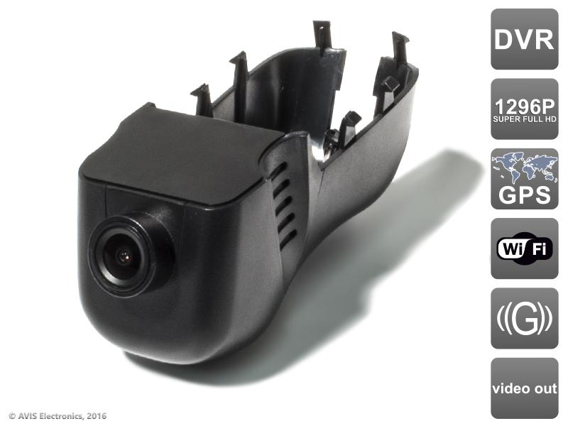 Штатный автомобильный Ultra HD (1296P) видеорегистратор с GPS AVS400DVR (#102) для VOLKSWAGEN видеорегистратор avis avs0466dvr