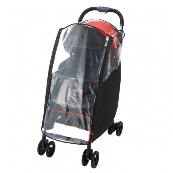 Картинка для Дождевик для колясок Aprica MagicalAir, прозрачный/черный