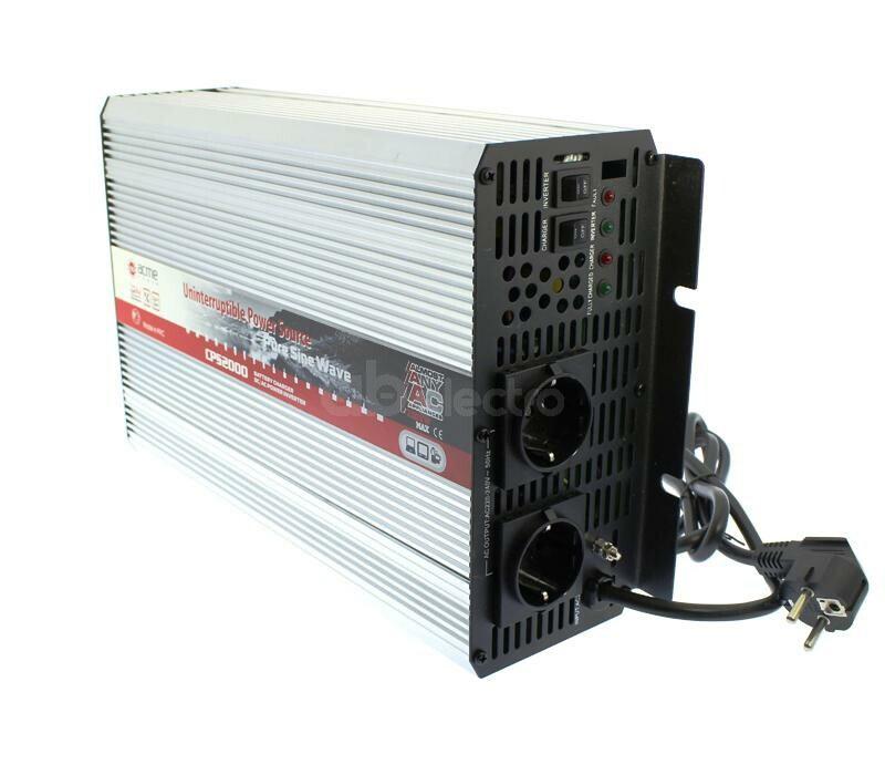 Преобразователь напряжения AcmePower AP-СPS-2000/12 (реальный синус, 2000 Вт, UPS)