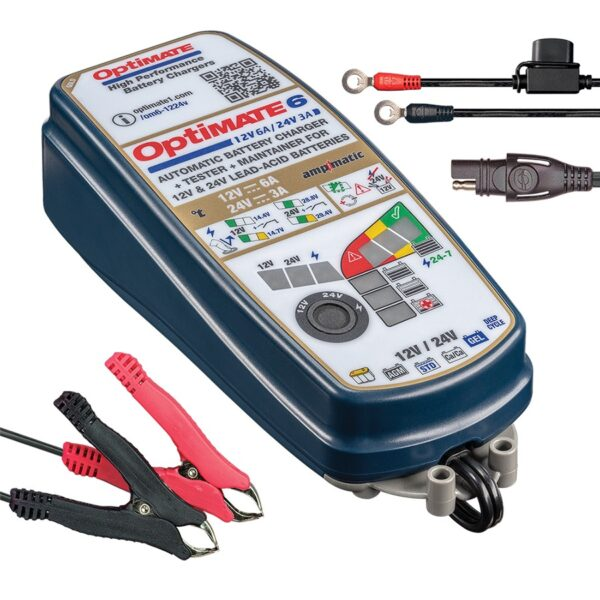 Зарядное устройство OptiMate 6 Gold TM380 (+ Антисептик-спрей для рук в подарок!)