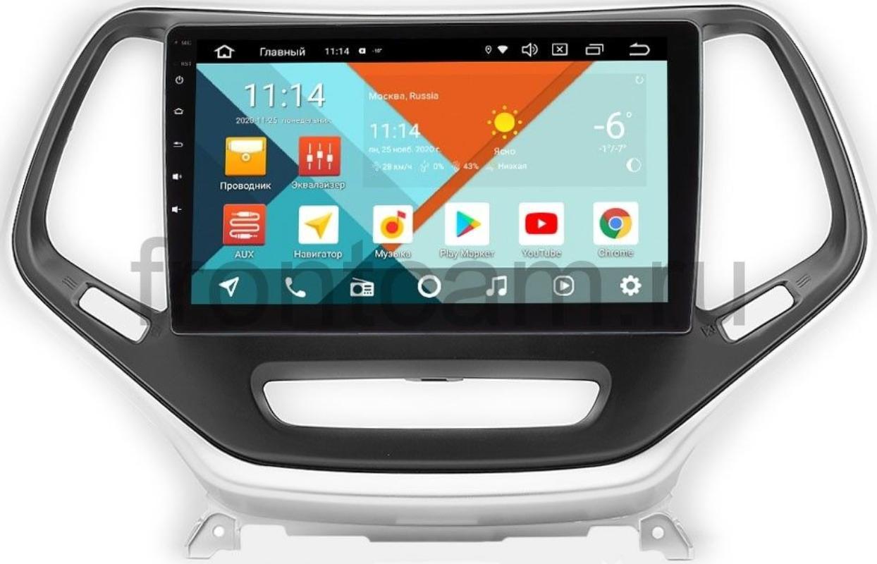 Штатная магнитола Jeep Cherokee IV (WK2) Wide Media KS10-811QR-3/32 DSP CarPlay 4G-SIM на Android 10 (+ Камера заднего вида в подарок!)