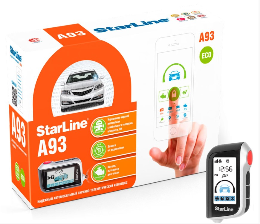 Автосигнализация StarLine A93 2CAN+2LIN ECO автосигнализация starline a93 2can 2lin