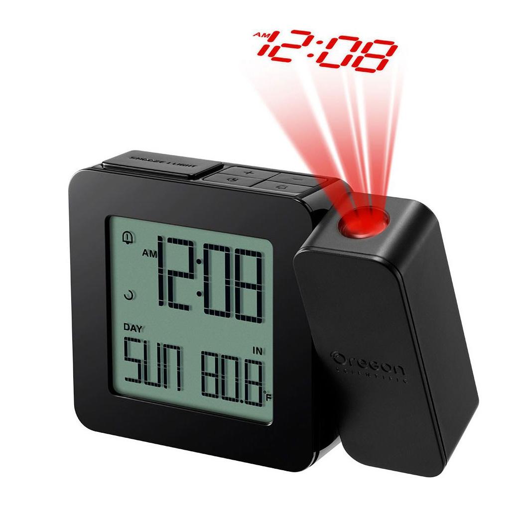 Часы проекционные Oregon Scientific RM338PX, с термометром, черные (+ Автомобильные коврики для впитывания влаги в подарок!)