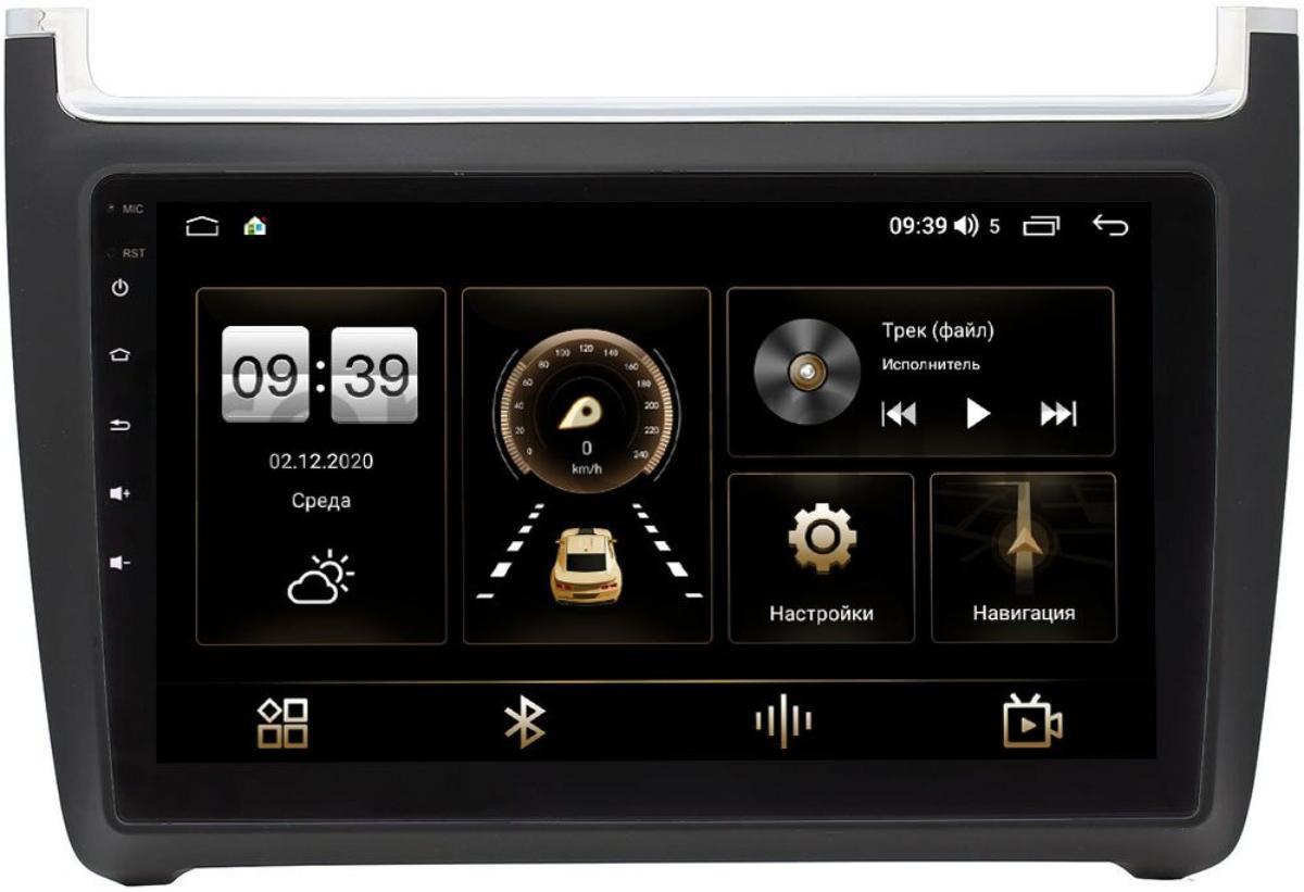 Штатная магнитола Volkswagen Polo 5 2009-2020 LeTrun 3792-9091 на Android 10 (4/64, DSP, QLed) С оптическим выходом (+ Камера заднего вида в подарок!)