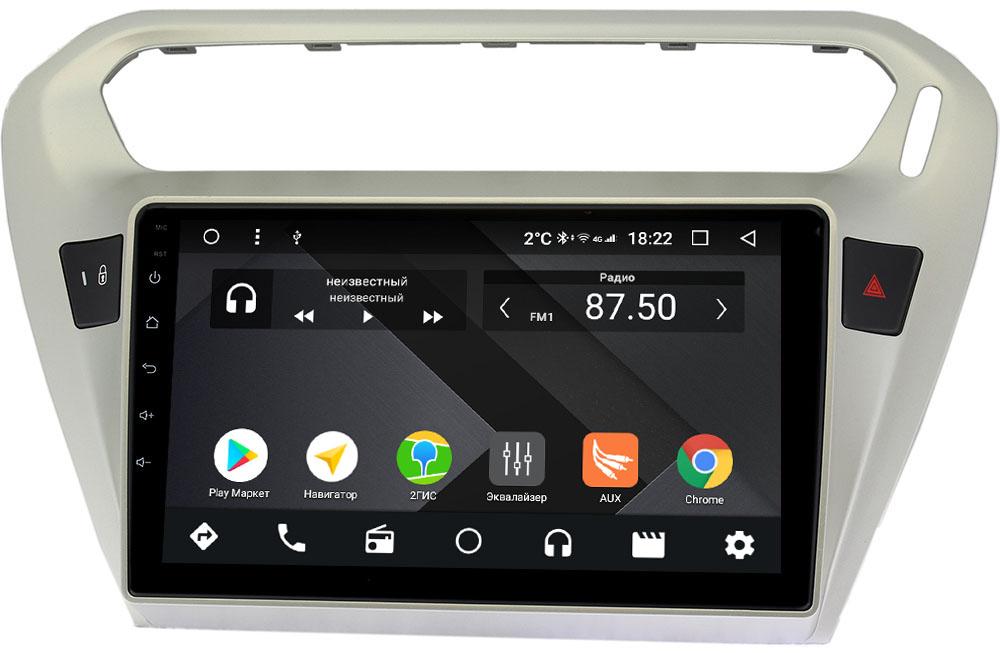 Штатная магнитола Peugeot 301 I 2012-2018 Wide Media CF9118-OM-4/64 на Android 9.1 (TS9, DSP, 4G SIM, 4/64GB) (+ Камера заднего вида в подарок!)
