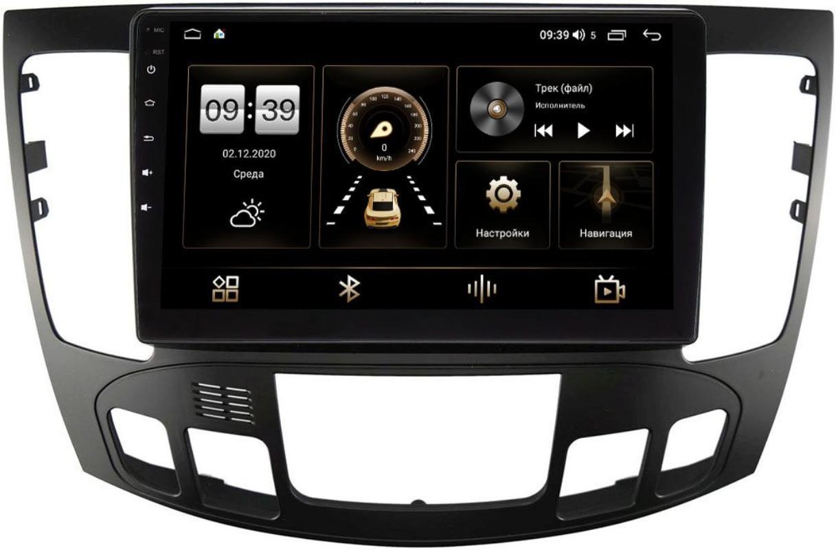 Штатная магнитола LeTrun 4166-9336 для Hyundai Sonata V (NF) 2008-2010 (авто с климат контролем) на Android 10 (4G-SIM, 3/32, DSP, QLed) (+ Камера заднего вида в подарок!)