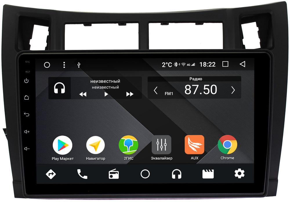 Штатная магнитола Toyota Vitz II (XP90) 2005-2010 Wide Media CF9133-OM-4/64 на Android 9.1 (TS9, DSP, 4G SIM, 4/64GB) (+ Камера заднего вида в подарок!)