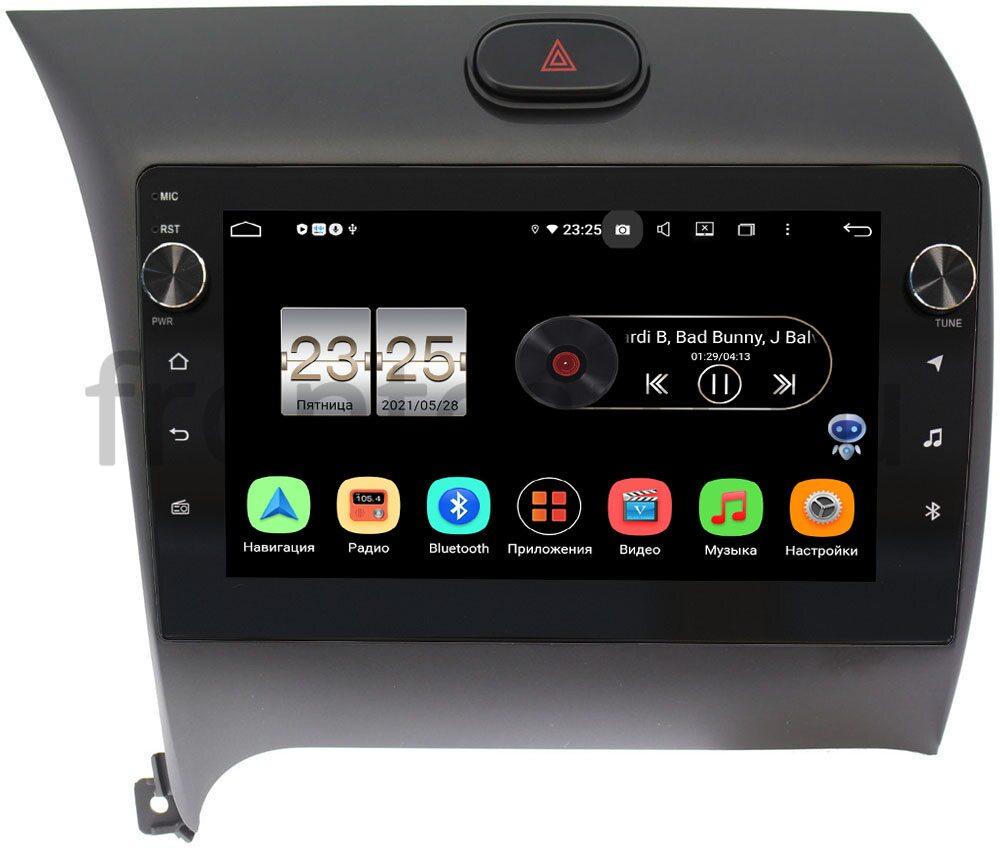Штатная магнитола Kia Cerato III 2013-2017 LeTrun BPX409-9014 на Android 10 (4/32, DSP, IPS, с голосовым ассистентом, с крутилками) для авто с камерой (+ Камера заднего вида в подарок!)