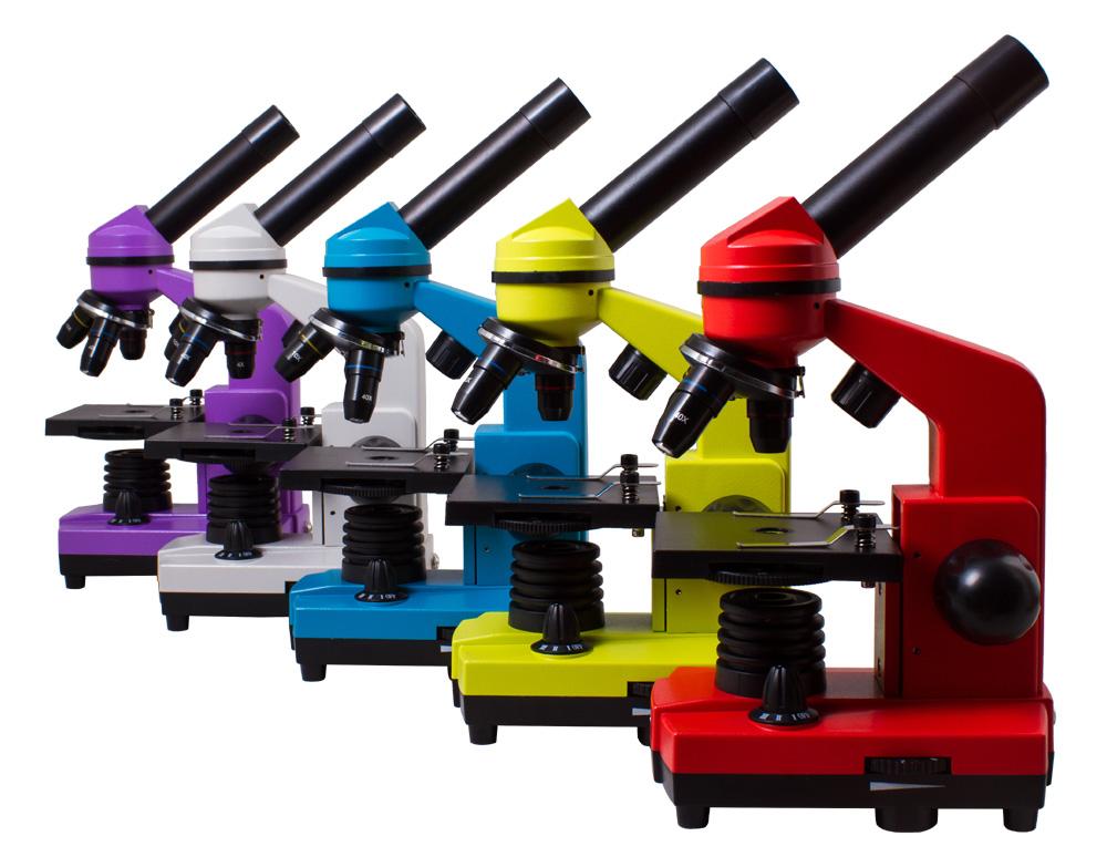 лучшая цена Микроскоп Levenhuk Rainbow 2L Azure\Лазурь