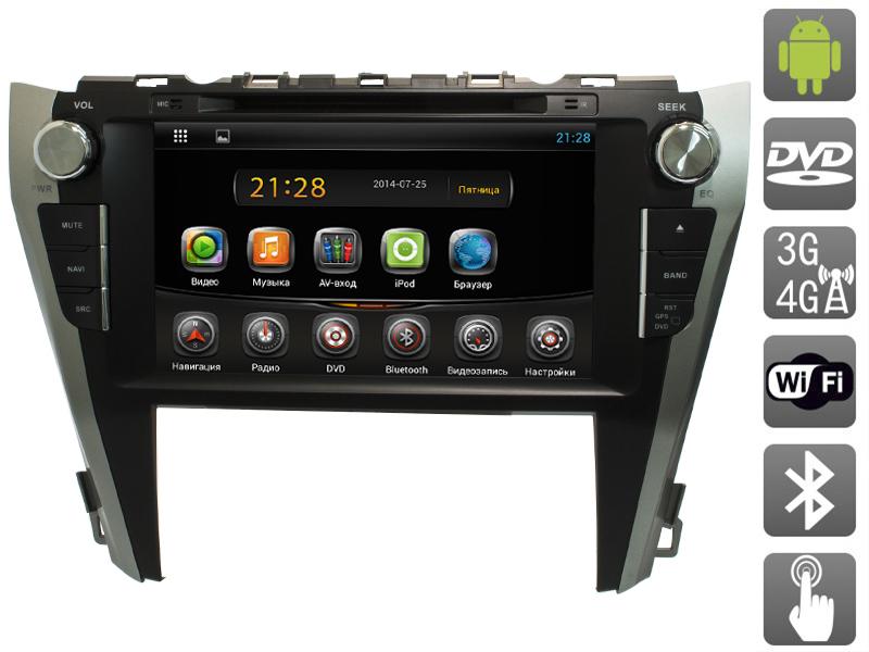 Штатная магнитола AVIS AVS090AN для Toyota Camry VII (XV50) (2014-) (#005) автомобильный коврик seintex 84980 для toyota camry