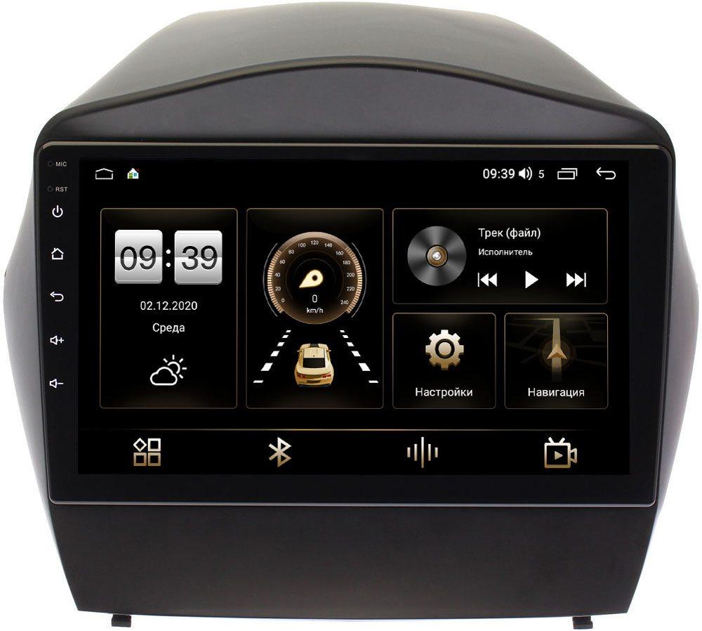 Штатная магнитола Hyundai ix35, Tucson II 2011-2015 (для авто с камерой) LeTrun 4196-9180 на Android 10 (6/128, DSP, QLed) С оптическим выходом (+ Камера заднего вида в подарок!)