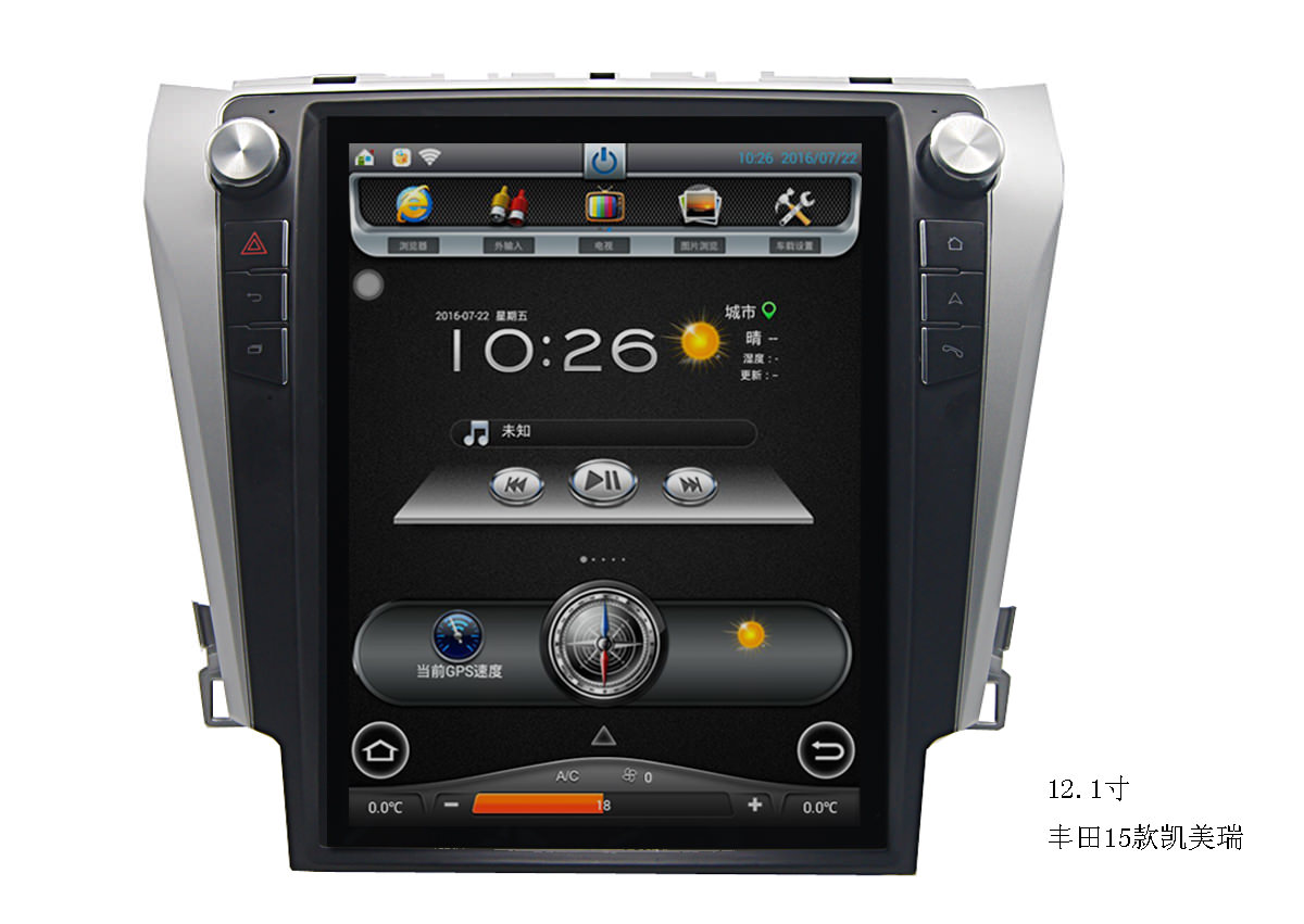 Штатная магнитола CARMEDIA MKD-1071 DVD Toyota Camry 11.2014+ (V55) lsqstar 8 android4 0 capacitive screen car dvd player w gps fm bt wifi swc tv aux for toyota prius