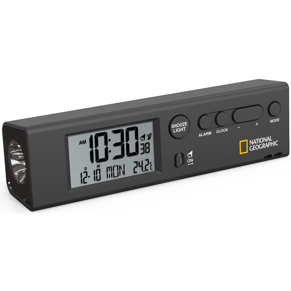 Часы Bresser National Geographic World Time с термометром и фонариком (+ Автомобильные коврики для впитывания влаги в подарок!)