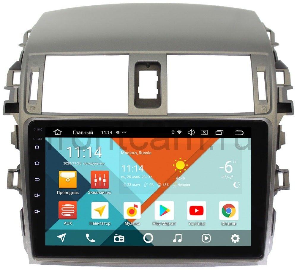 Штатная магнитола Wide Media KS9061QR-3/32 DSP CarPlay 4G-SIM для Toyota Corolla X 2006-2013 на Android 10 (+ Камера заднего вида в подарок!)