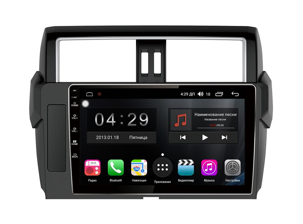 Штатная магнитола FarCar s200+ для Toyota Land Cruiser Prado 150 на Android (A531R) штатная магнитола carmedia mkd 1040 dvd toyota land cruiser prado 150 2013 2016 поддержка кругового обзора