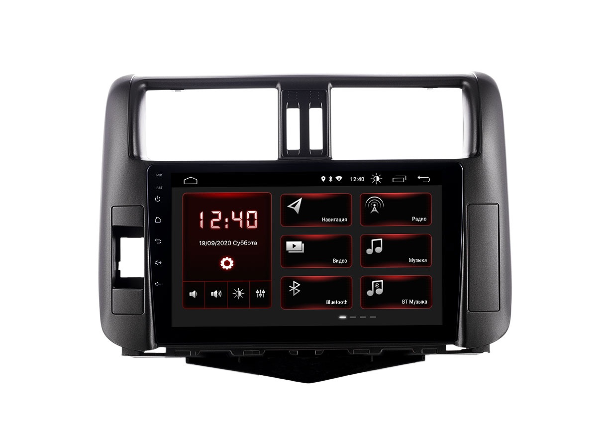 Штатная магнитола INCAR XTA-2207r для Toyota Prado 150 (2009-2013) Android 10 (+ Камера заднего вида в подарок!)