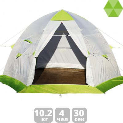 Зимняя палатка ЛОТОС 5С (дно ПУ1000) палатка лотос 3 саммер спальная