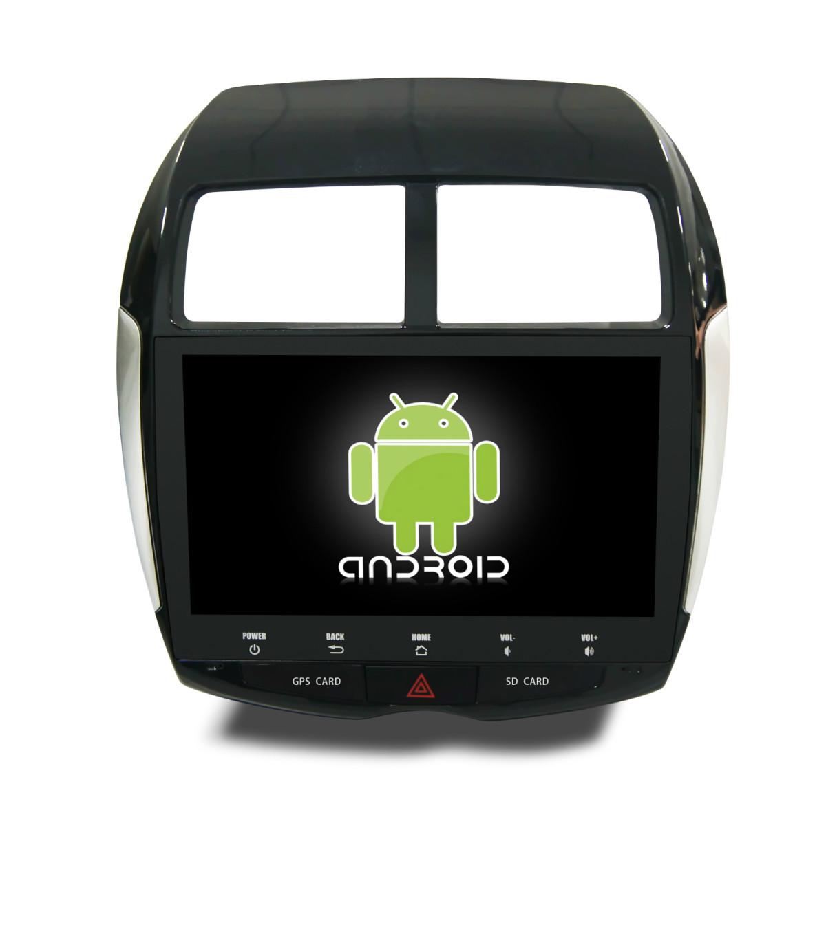 Штатная магнитола CARMEDIA QR-1046-T8 Mitsubishi ASX/RVR, Citroën C4 AirCross, Peugeot 4008 на OC Android 7.1.2 / 8.1 автомобильный dvd плеер lg android 4 4 8 dvd citroen c4 aircross peugeot 4008 mitsubishi asx 2010 2011 gps