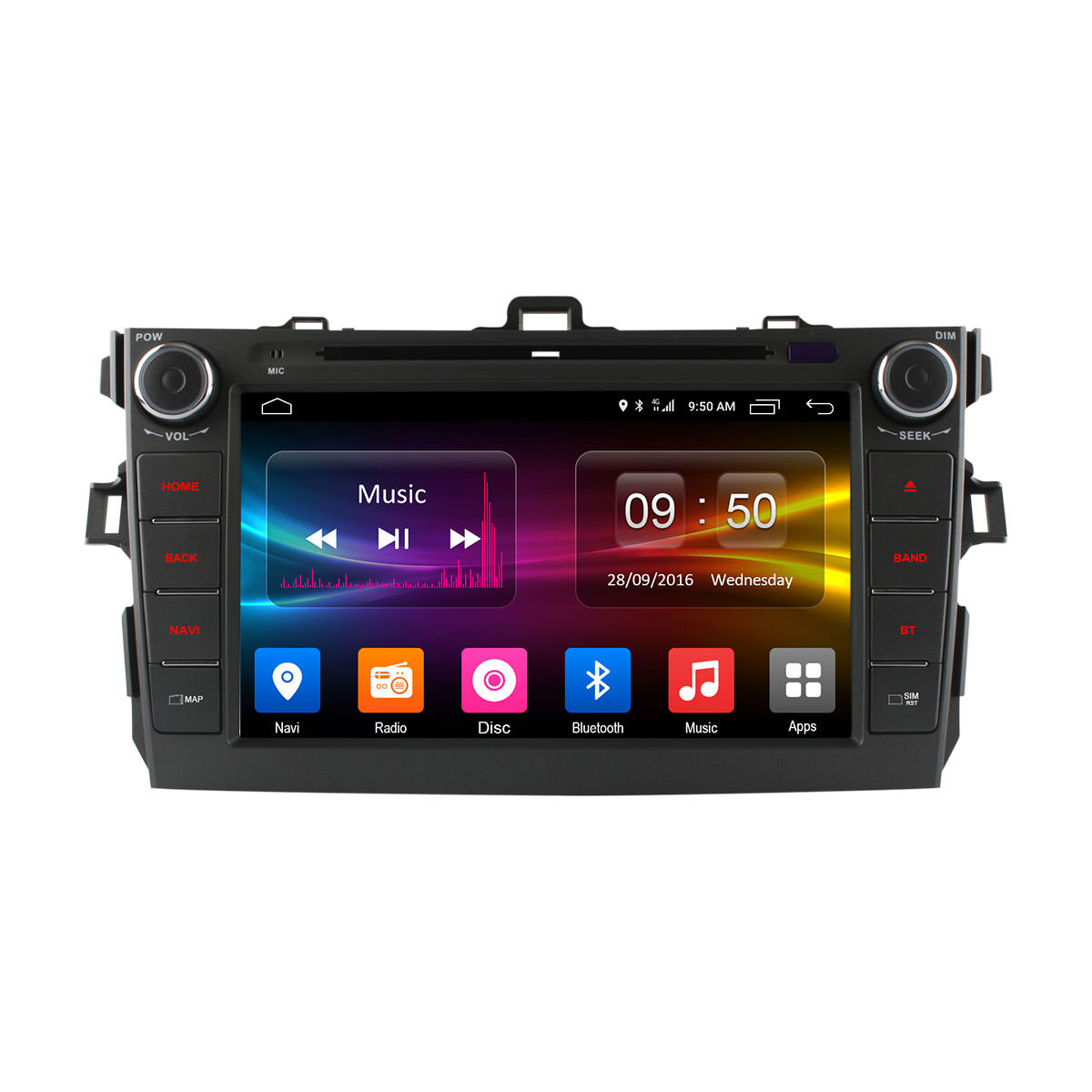 Штатная магнитола CARMEDIA OL-8694 DVD Toyota COROLLA 2006-2013 lsqstar 8 android4 0 capacitive screen car dvd player w gps fm bt wifi swc tv aux for toyota prius
