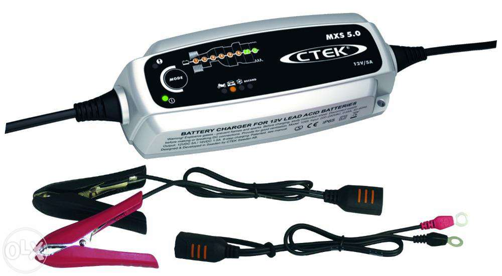 Зарядное устройство Ctek MXS 5.0 (8 этапов 1,2-160Aч) индикатор состояния акб с круглыми клеммами м6 ctek 56 629